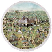 Ancient Jerusalem Round Beach Towel