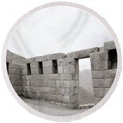 Ancient Pisac Round Beach Towel