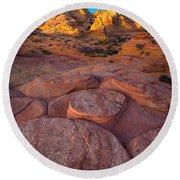 Ancient Seabed Round Beach Towel