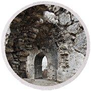 Ancient Side Byzantine Hospital Round Beach Towel