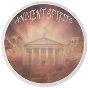 Ancient Spirits Round Beach Towel