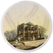 Ancient Temple At Hulwud, From Volume I Round Beach Towel