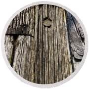 Ancient Timber Round Beach Towel