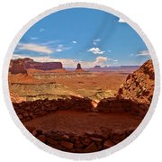 Ancient Viewpoint Round Beach Towel