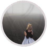 And Tears Shall Drown The Wind Round Beach Towel by Evelina Kremsdorf