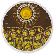 And The Sun Started To Shine Pop Art Round Beach Towel