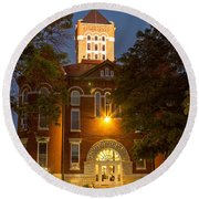 Anderson County Courthouse Round Beach Towel