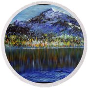 Andes Mountain Round Beach Towel