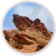 Andreas Canyon Round Beach Towel