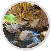 Andreas Creek In Indian Canyons-ca Round Beach Towel