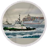 Andrew Foss Assisting Cosco Round Beach Towel