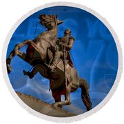 Andrew Jackson And New Orleans Saints Round Beach Towel