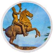 Andrew Jackson - Paint Round Beach Towel