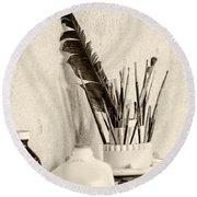 Andrew's Feather Round Beach Towel