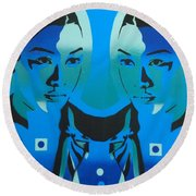 Android Twins Round Beach Towel