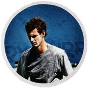 Andy Murray Round Beach Towel by Nishanth Gopinathan