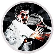 Andy Murray Round Beach Towel by The DigArtisT