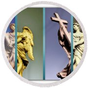 Angel And Supernatural Round Beach Towel by Stefano Senise