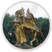 Angel And Tecumseh Sherman Round Beach Towel