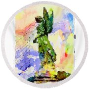 Angel Colors Round Beach Towel