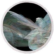 Angel Dove Round Beach Towel by Elizabeth McTaggart