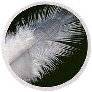 Angel Feather Round Beach Towel