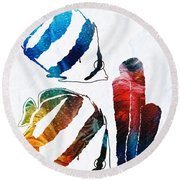Angel Fish Art - Little Angels 2 - By Sharon Cummings  Round Beach Towel