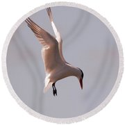 Angel From On High Round Beach Towel