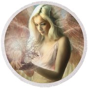 Angel Jehoel Round Beach Towel