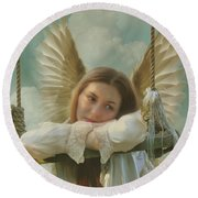 Angel Of Independence Round Beach Towel