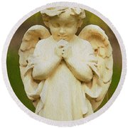 Angel Of Mine Round Beach Towel