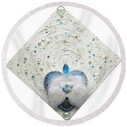 Angel Of Purity And Power Round Beach Towel