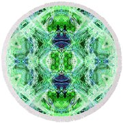 Angel Of The Earth Round Beach Towel