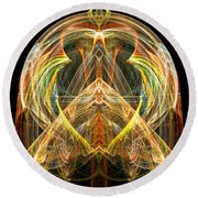 Angel Of Transformation And Change Round Beach Towel