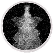Angel Tree Round Beach Towel