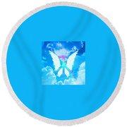 Angel Wings Round Beach Towel