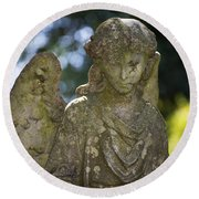 Angel With Broken Arm II Cave Hill Cemetery Louisville Kentucky  Round Beach Towel