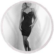 Angelavegasdress Round Beach Towel