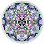 Angelic Dimensions Round Beach Towel
