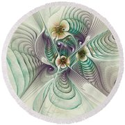 Angelic Entities Round Beach Towel by Deborah Benoit