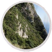 Angelo Castle Corfu Greece Round Beach Towel