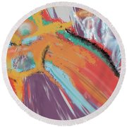 Angels And Demons Round Beach Towel