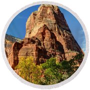 Angel's Landing In Fall - Zion National Park  Round Beach Towel