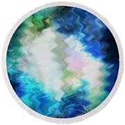 Angels Of Peace Round Beach Towel