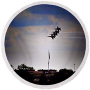 Angels Over Ft. Mchenry 2 Round Beach Towel