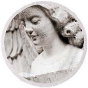 Angels Prayers And Miracles Round Beach Towel