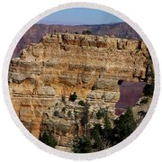 Angel's Window At Cape Royal Grand Canyon Round Beach Towel