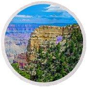 Angel's Window At Cape Royal On North Rim Of Grand Canyon-arizona Round Beach Towel