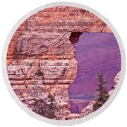 Angel's Window  Grand Canyon Round Beach Towel