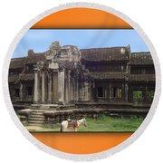 Angkor Wat Cambodia 1 Round Beach Towel